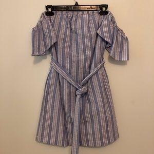 MIMI CHICA Off the Shoulder Flutter Sleeve Dress